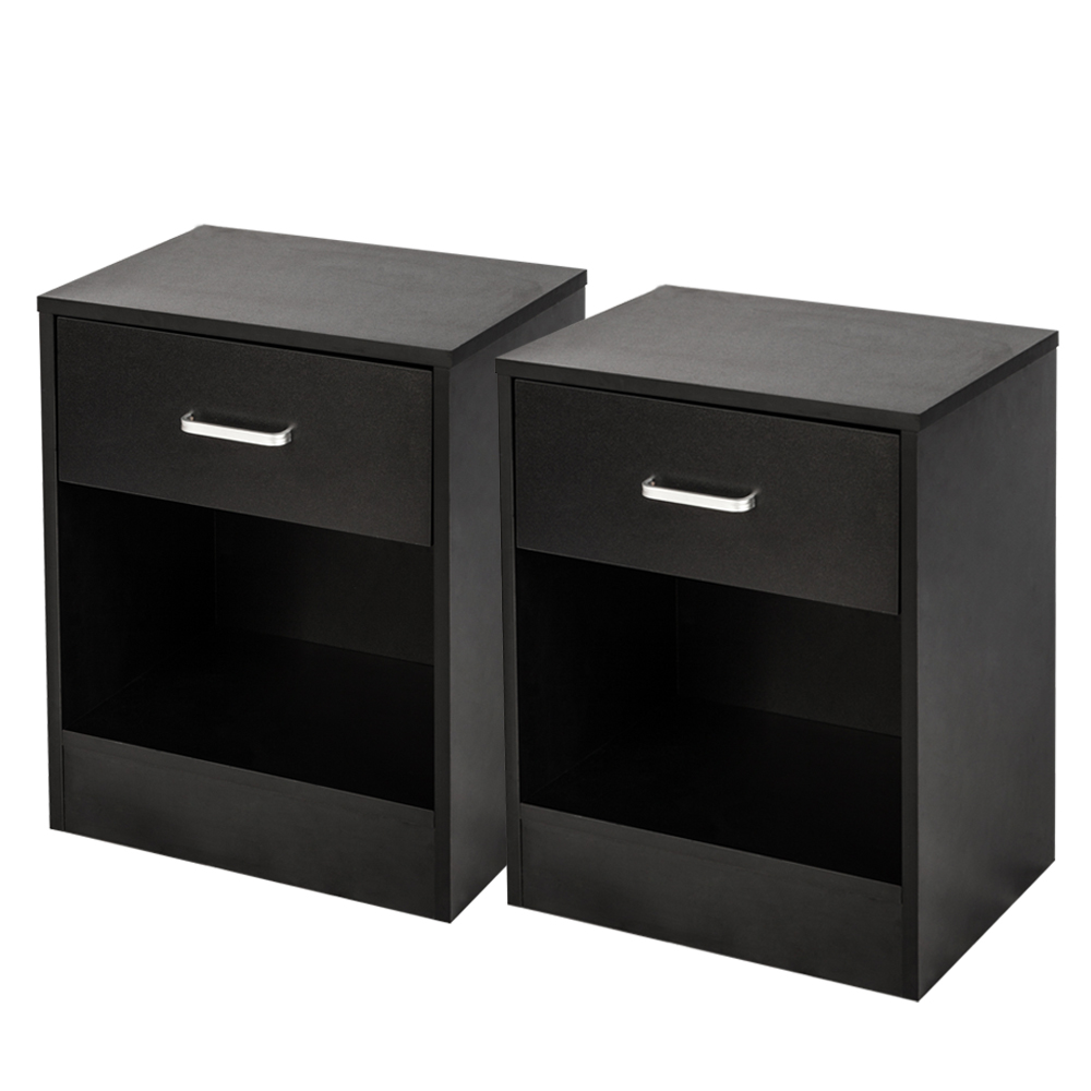Details about Night Stand Bedside Table Sofa Chair Side End Tables Bedroom  Nightstand Set of 2