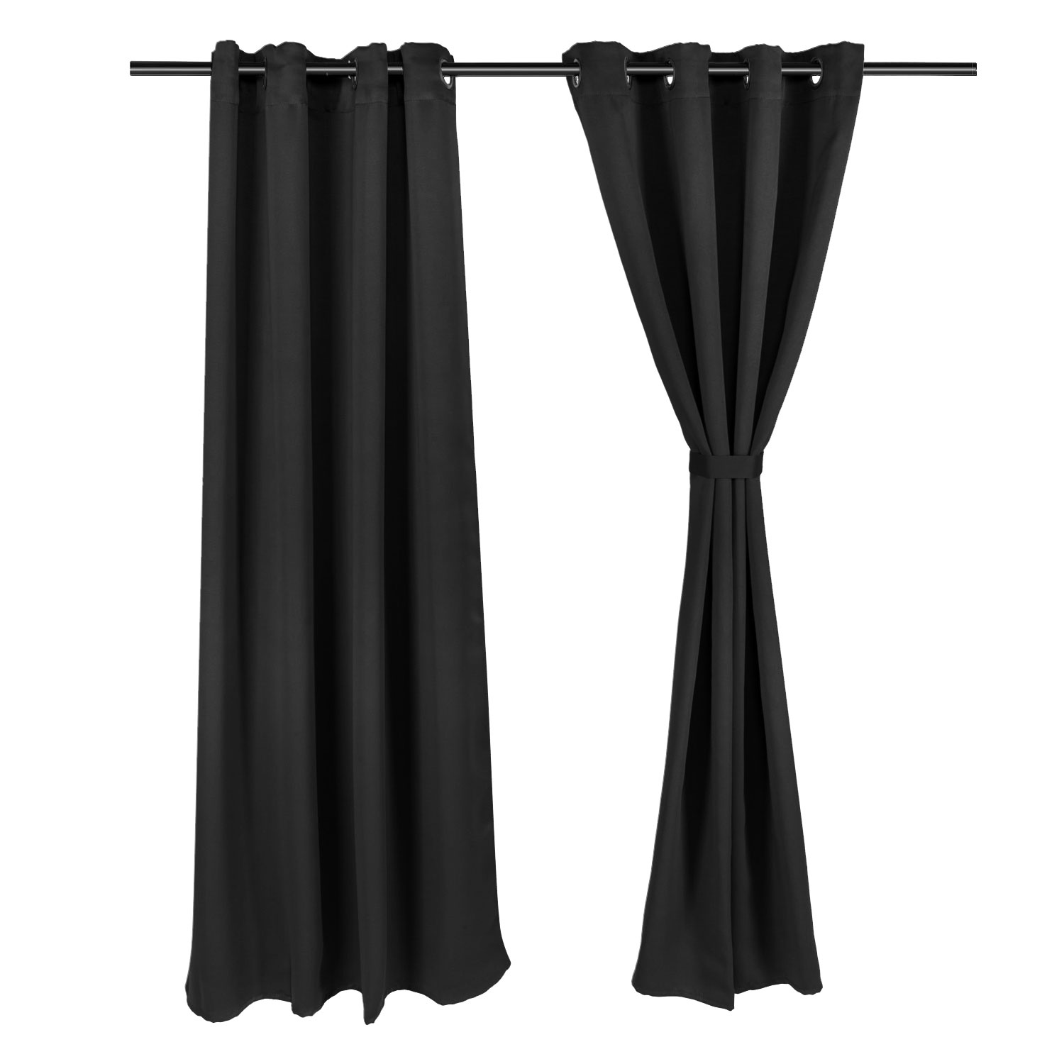 Blackout Curtains 2 Panel Living Bedroom Clear Set 52x63 Inch Window Curtain US