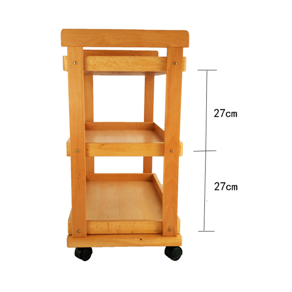 Details About 3 Tier Trays Wood Tool Cart Removable Storage Art Drawing Trolley W Wheels