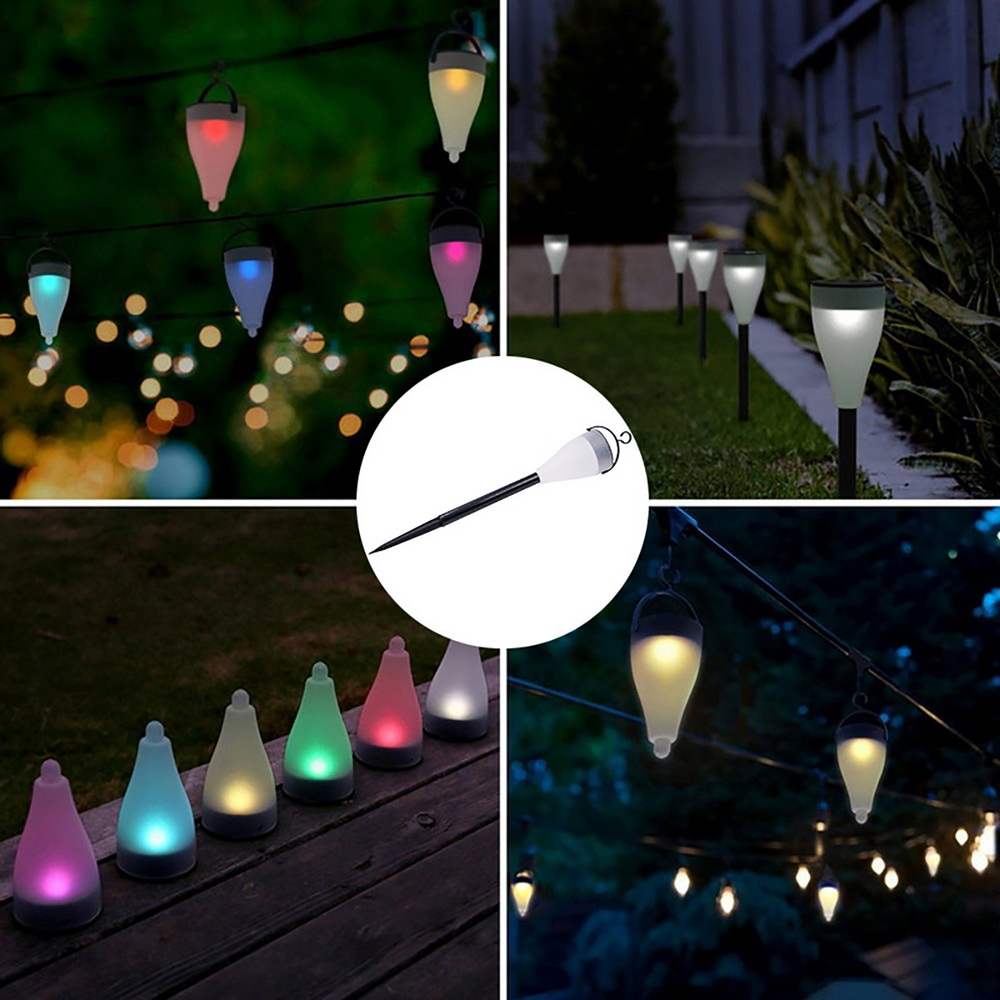 Details About Color Changing Solar Lights Outdoor Led Power Lawn Yard Garden Light Path Lamp