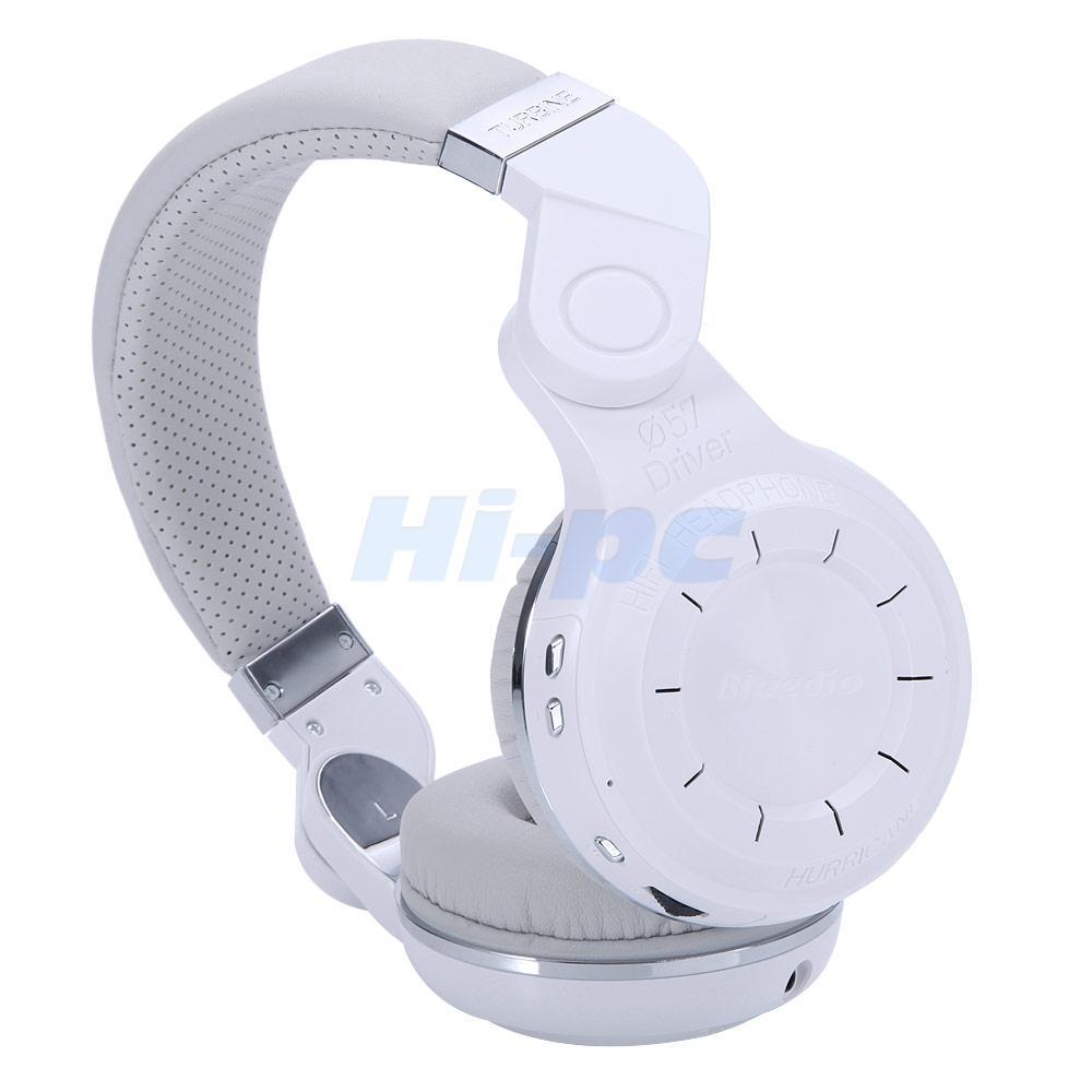 Bluedio Turbine T2 Bluetooth 41 Headsets Wireless Stereo Headphones Ufo Premium Headset High End Mic White