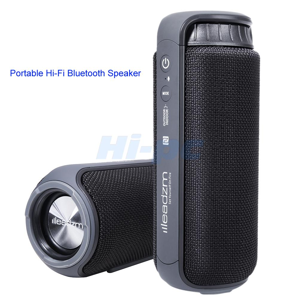 Portable waterproof wireless hi fi bluetooth speaker nfc for Mobile porta hi fi