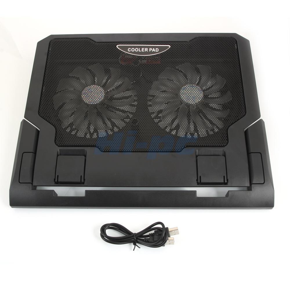 USB 2 Cooler Fan Cooling Pad 12 174 Laptop LED Light Adjustable Stand EBay