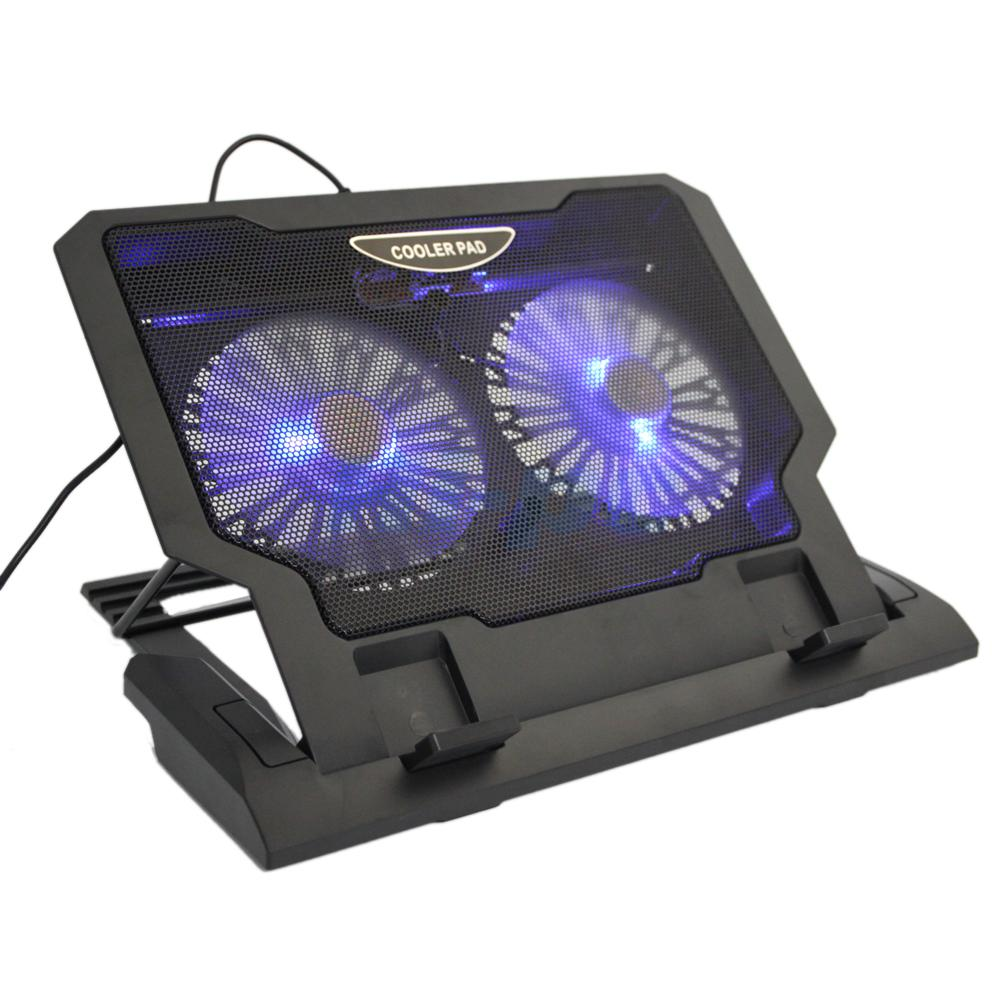 Computer Fan Stand : Usb cooler fan cooling pad quot laptop led light
