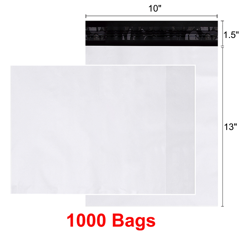 1000 PCS 12x15.5 Poly Mailers Bags with Self Sealing Plastic
