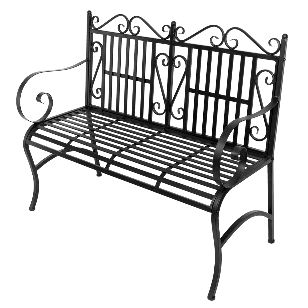 Superb Details About Nice 2 Seater Foldable Outdoor Patio Garden Bench Porch Chair Steel Frame Solid Andrewgaddart Wooden Chair Designs For Living Room Andrewgaddartcom