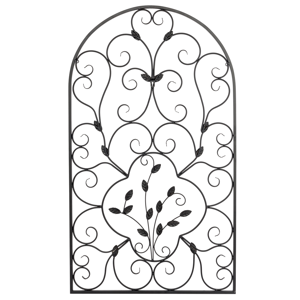 "Art Deco Ornamental Ironwork: New 41""H Hanging Wrought Iron Metal Wall Art Decorative"