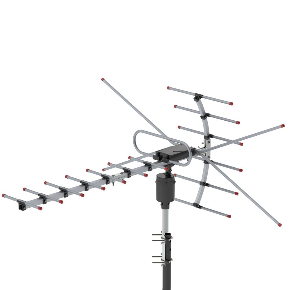 200mile Outdoor Tv Antenna Motorized Amplified Hdtv 1080p