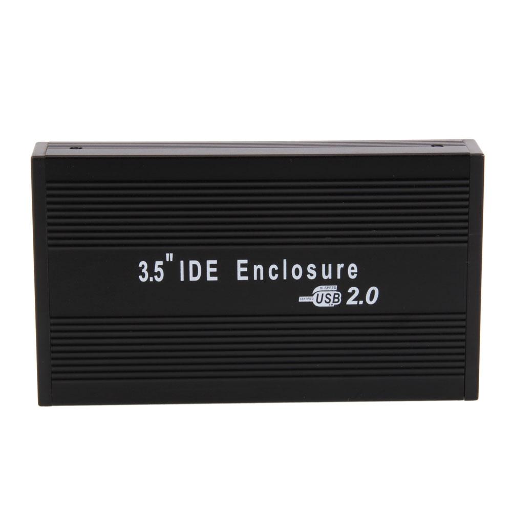 new 3 5 ide aluminum hdd hard drive enclosure usb 2 0 external case ebay. Black Bedroom Furniture Sets. Home Design Ideas