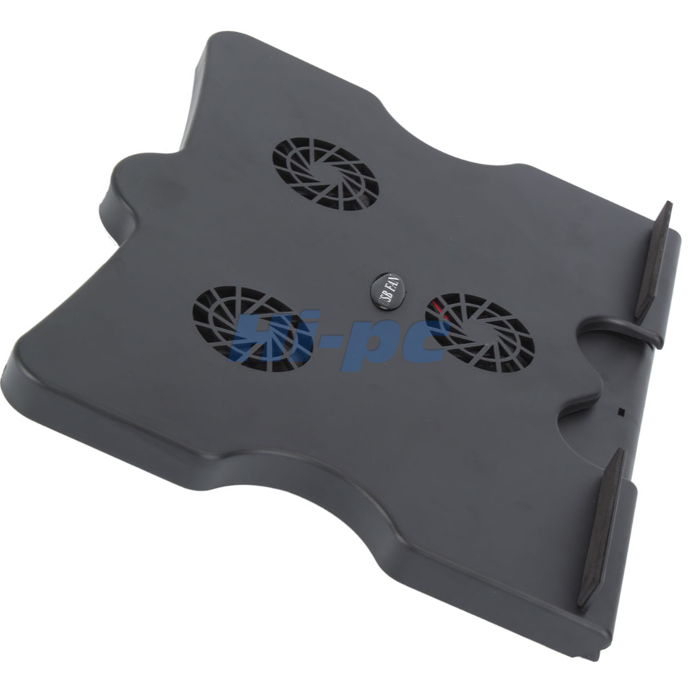 6 Degree Notebook Laptop Cooling Cooler Pad Stand W 3 Fan