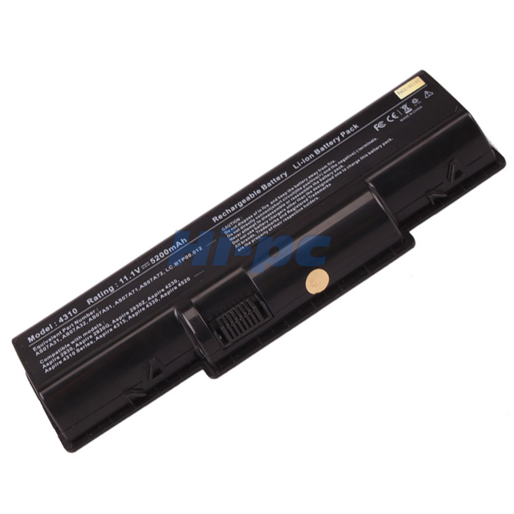 6 Cell Battery For Acer Aspire 5738 5738zg 5738z 5738g As07a72 As07a51 As07a52
