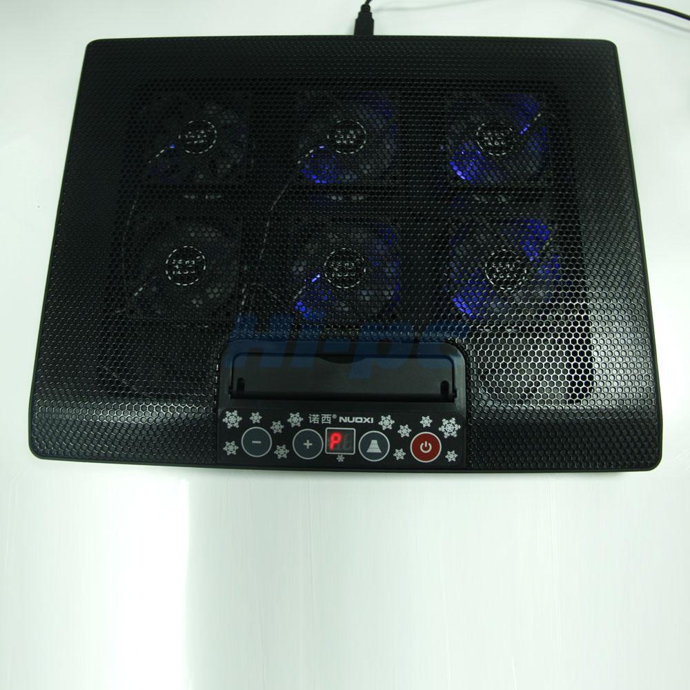 LED Adjustable Stand USB 6 Fan Cooling Cooler Pad For 12