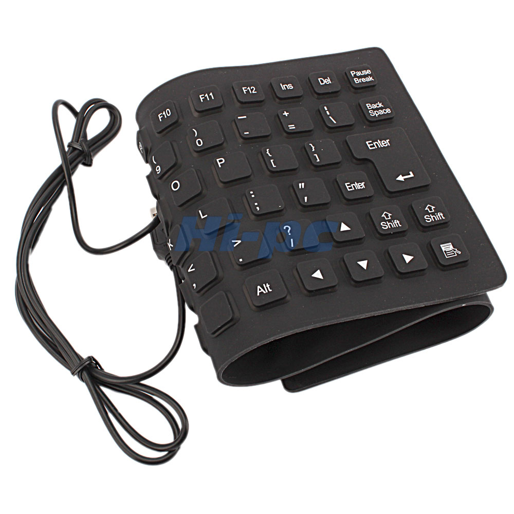 portable 2 0 usb mini flexible silicone foldable pc keyboard for laptop notebook ebay. Black Bedroom Furniture Sets. Home Design Ideas